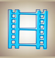 reel of film sign sky blue icon with vector image vector image