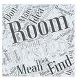 room design Word Cloud Concept vector image vector image