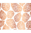 rose gold foil mosaic leaves seamless vector image vector image