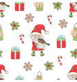 santa violin christmas seamless pattern ill vector image vector image