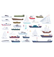 sea ship travel boat boating vector image vector image