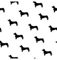 seamless pattern with cute dachshund silhouette vector image vector image