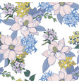 seamless pattern with graphic flowers for textile vector image vector image