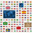seamless pattern with travel suitcases and flags vector image vector image