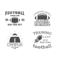 Set of american football team campus badges logos