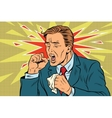 Sick man coughing vector image vector image