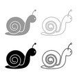 snail icon outline set grey black color vector image vector image