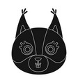 squirrel muzzle icon in black style isolated on vector image vector image