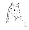 stylized horse head vector image vector image