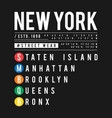 t-shirt design in the concept of new york city vector image vector image
