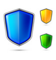 three abstract shield for creative design vector image