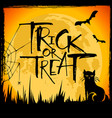 trick or treat halloween card vector image
