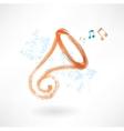 trumpet grunge icon vector image