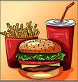 unhealthy fast food vector image vector image