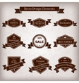 vintage set labels with ribbons vector image