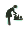 women and baby symbol baby changing vector image vector image
