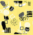 yellow geometric abstract seamless pattern vector image vector image