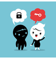 mentoring business concept cartoon vector image