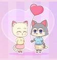sweet little cute kawaii anime cartoon puppy wolf vector image
