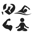 Fitness elements and logos vector image