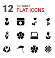 12 blossom icons vector image vector image