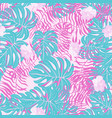 beautiful tropical seamless pattern with flowers a vector image