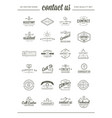 big set of contact us service elements and vector image