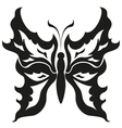 Black and white butterfliesTattoo design vector image vector image