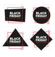 black friday sale banners set vector image