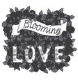blooming love romantic vintage art hand vector image