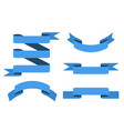 blue paper scrolls set vector image vector image