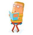 book lover read a book vector image vector image