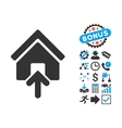 Building Entrance Flat Icon with Bonus vector image vector image