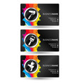 business card painting set vector image vector image