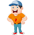Cartoon sport coach yelling vector image