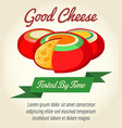 cheese product retro poster vector image vector image