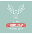 Christmas deer decoration design Typographic vector image vector image