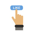 click like button vector image vector image