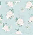 colorful pastel seamless pattern with roses vector image vector image