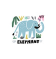 cute elephant hand drawn vector image vector image