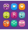 Cute Monster Web Icons Colourful vector image vector image