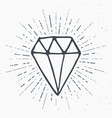 diamond vintage label hand drawn sketch grunge vector image