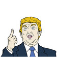 donald trump the 45th president of the usa vector image vector image