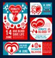 donate blood banner of donor medical center design