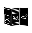folded brochure glyph icon vector image vector image