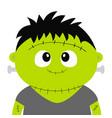 frankenstein monster happy halloween cute cartoon vector image