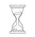 freehand drawn black and white cartoon sand timer vector image vector image