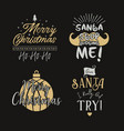 funny merry christmas graphic prints set t shirt vector image vector image