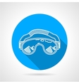 Goggles circle flat icon vector image