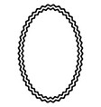 greek round frame with waves lines typical vector image vector image